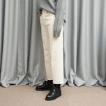 COTTON STRAIGHT PANTS (IVORY)