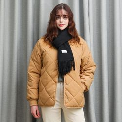QUILTING INNER JACKET (BROWN)