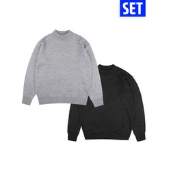 [1+1] BASIC HALF POLAR NECK SET