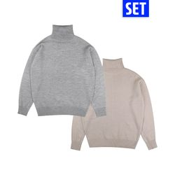 [1+1] BASIC OVERFIT POLAR NECK SET