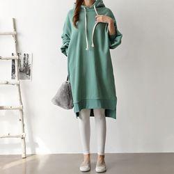 Double Gimo Hood Dress
