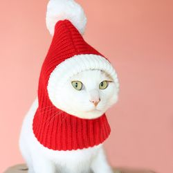 강아지 산타모자 고양이 크리스마스 악세사리