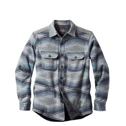 셔츠 자켓 매직 밸리 퀼팅 울 블루