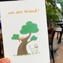 We are friend postcard