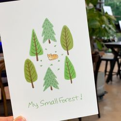 My small forest postcard