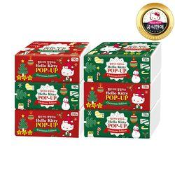 헬로키티 팝업티슈 크리스마스 에디션 (110매 3개x2팩) 총 6개