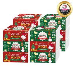 헬로키티 팝업티슈 크리스마스 에디션 (110매 3개x4팩) 총 12개