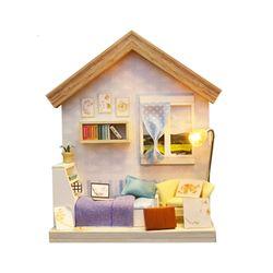 [adico]DIY 미니어처 싱글하우스 - 블루 침실