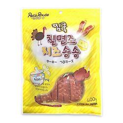 맛있는 강아지간식 펫츠루트 찜쿡 칠면조 치즈 송송 400g