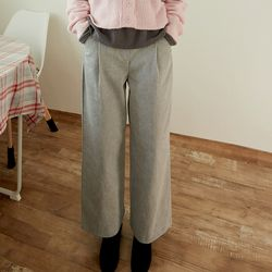 washed tuck pants (2colors)