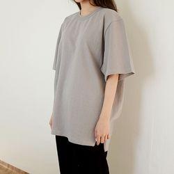 cotton loose half t-shirt (5colors)