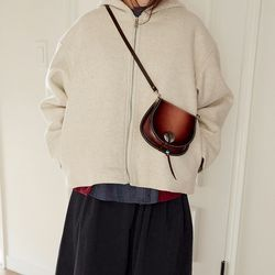 basic crop hood jacket (2colors)