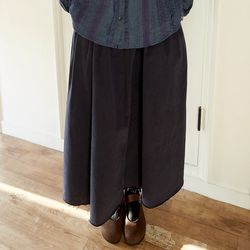 stitch tuck flair skirts (3colors)