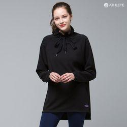 러블리한 하이넥 티 HRT27 에스텔라 롱 티셔츠콜블랙