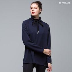 러블리한 하이넥 티 HRT27 에스텔라 롱 티셔츠네이비블루