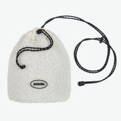BOA FLEECE BUCKET BAG (IVORY)