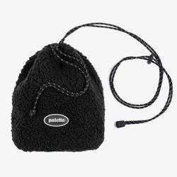 BOA FLEECE BUCKET BAG (BLACK)