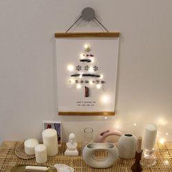 크리스마스 트리 페이퍼 + 우드행잉프레임 (A3)