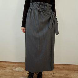 wrap stripe skirts (2colors)