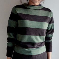 slim stripe knit top (2colors)