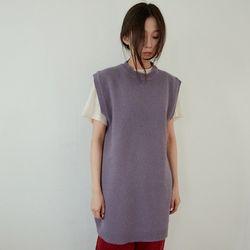 angora non sleeve dress (purple)