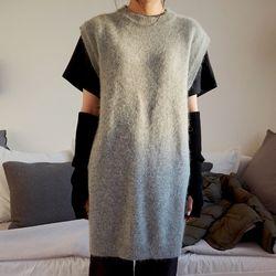 angora non sleeve dress (2colors)