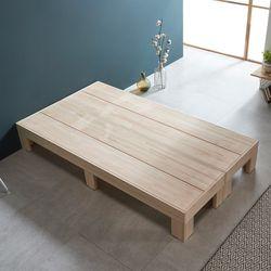 웰 편백나무 SS 평상형 원목 침대 FMF176