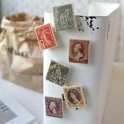 클래식 우표 마그넷 6종