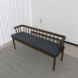 슈틸 고무나무 원목 식탁 벤치의자 2인