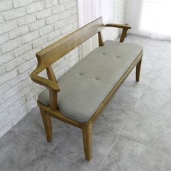 산토 고무나무 원목 식탁 벤치의자 3인