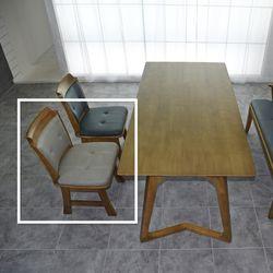 코로 고무나무 원목 식탁 의자