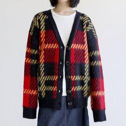 argyle plaid loose cardigan (3colors)