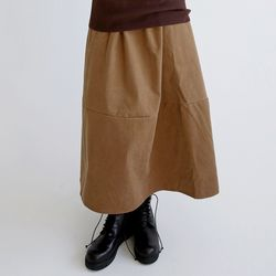 classic swagger skirts (brown)