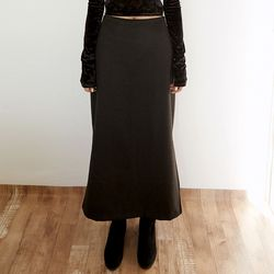 slim fit wool skirts (2colors)