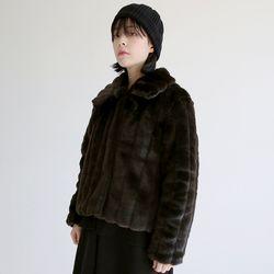 casual fur jacket (brown)