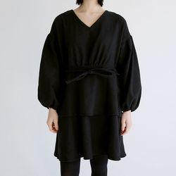 puff string mini dress (2colors)
