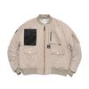 WASHED TECH OVERSIZED MA-1 JACKET BEIGE