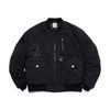 WASHED TECH OVERSIZED MA-1 JACKET BLACK