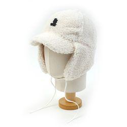 Thunder White Fleece Earflap Cap 귀달이모자