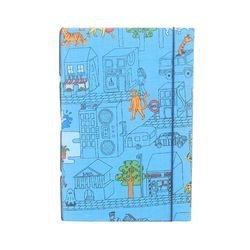 DIY북아트1014 동물도시 파랑