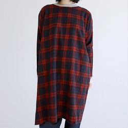 check block dress (red)