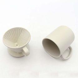NEMO 달소금 무광 도자기 드리퍼대용량머그컵세트-크림화이트SET