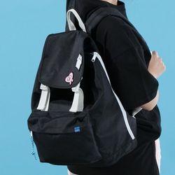 [플랩비]2wo Webbing Backpack (BLACK)