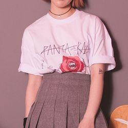 [라지크]PANTA ROSE MEAN T-SHIRT (WHITE)