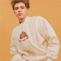 [기모] xx Pumpkin 자수 MTM 크림
