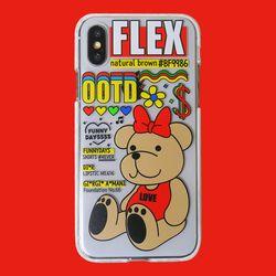 아이폰 x XS XSmax XR 전용 곰돌이 투명 젤리케이스