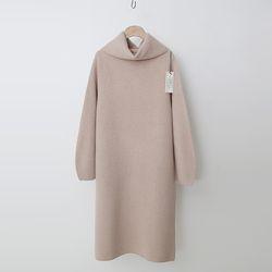 Laine Cashmere Wool Warmer Turtleneck Dress