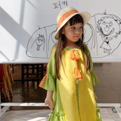 여아 아동 바캉스 원피스 에스닉 로브.