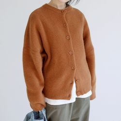 smooth round cardigan (2colors)