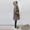 Hood is winter coat